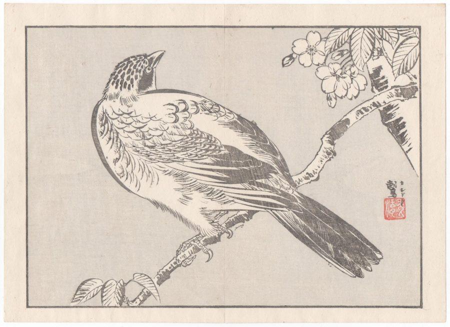 Single Large Bird - Japanese Woodblock