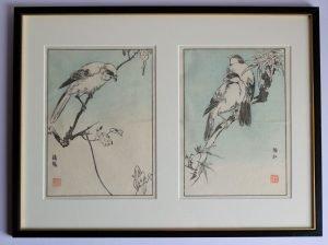 Two Bird Prints - Japanese Woodblock