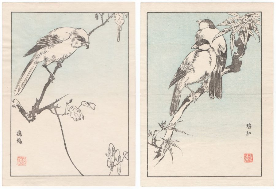Two Bird Prints - Japanese Woodblock