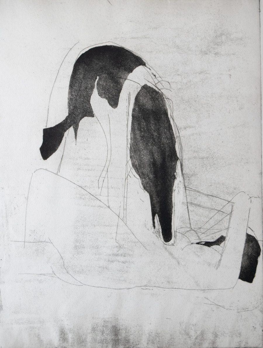 Woman and Dog (aquatint)