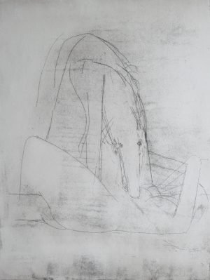 Woman and Dog (monotype)