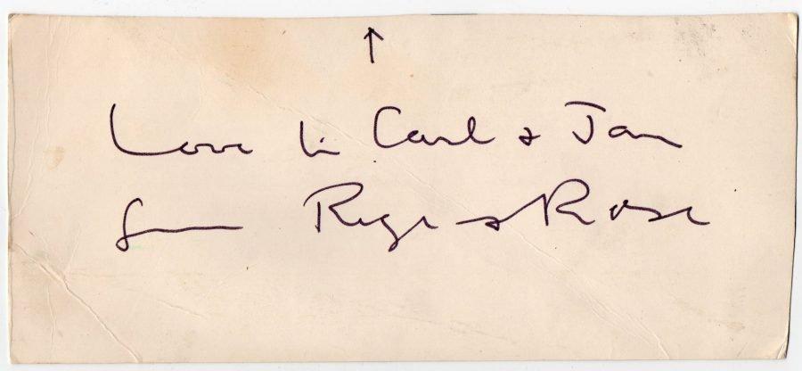 Roger Hilton Christmas Card c.1960