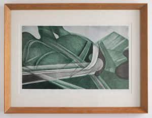 Untitled Lithograph in Green