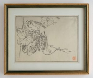 Two Small Birds - Japanese Woodblock