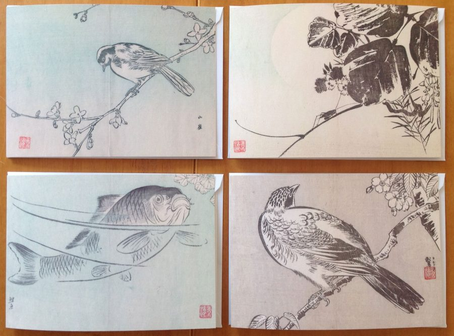 Four Japanese Woodblock Cards