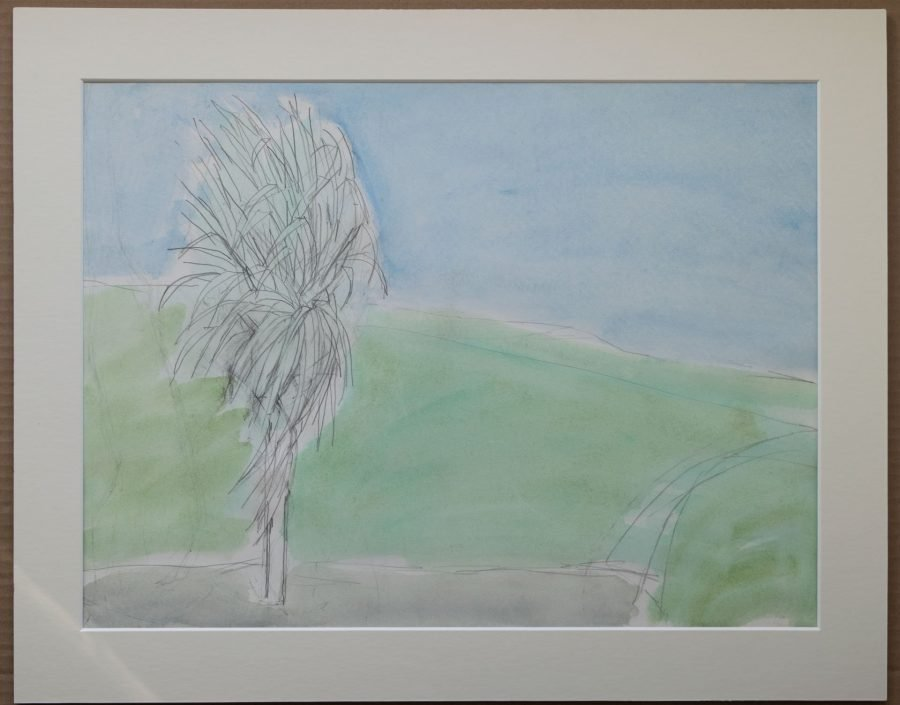 Young Palm Tree in the Wind (Study)