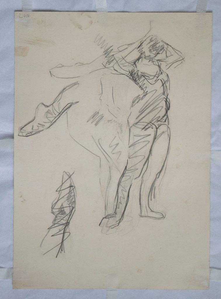 Dancer fastening shoe II