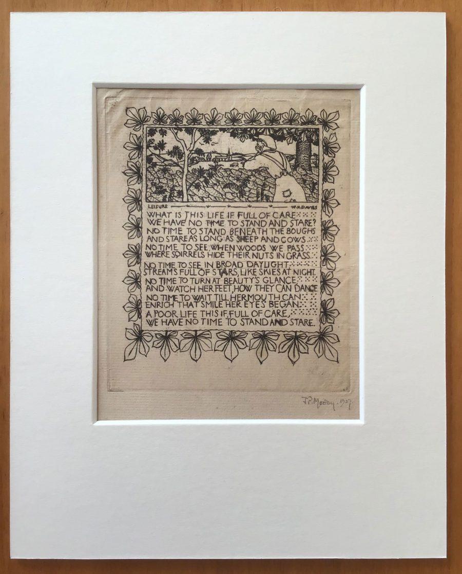 Leisure - etching