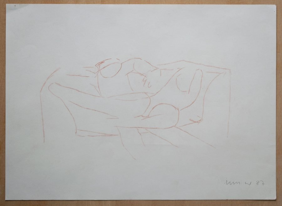 Two Figures on a Sofa