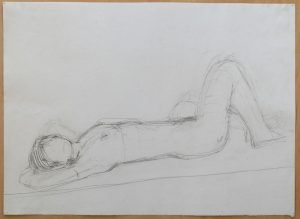 Liz in repose – study