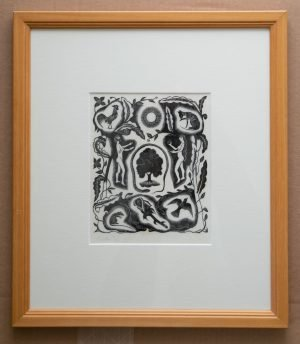 Adam and Eve wood engraving